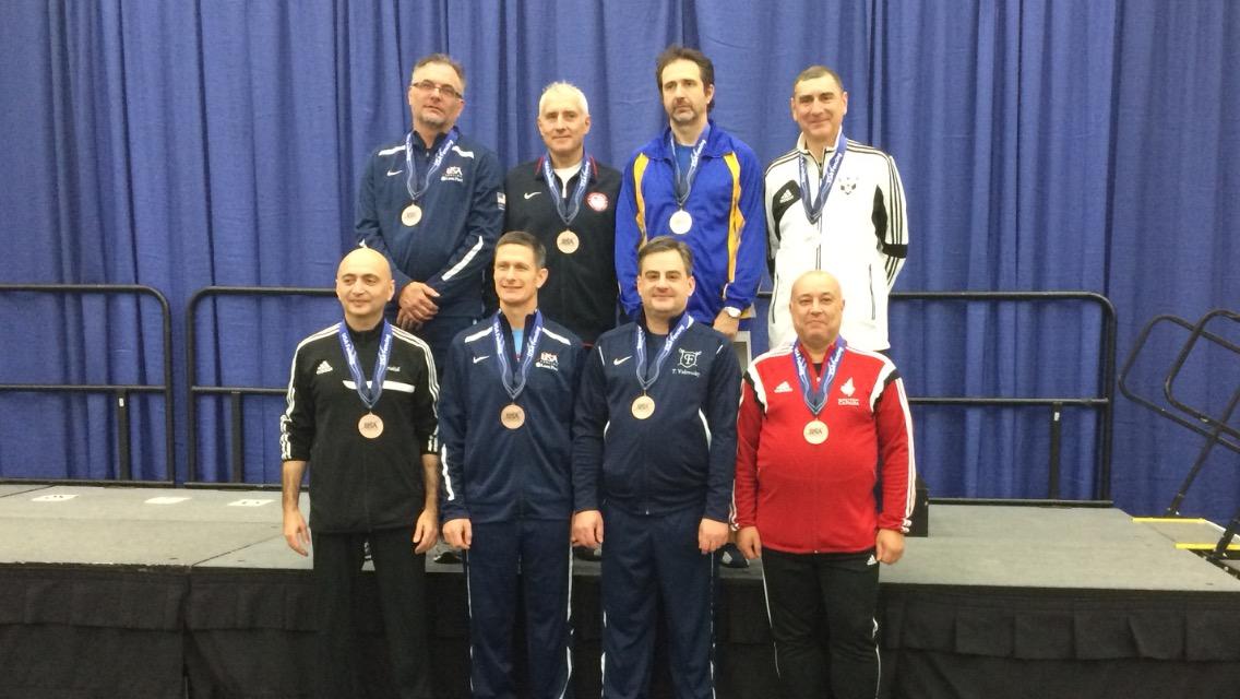 Tamas 6th place Veteran Men Saber at the Dec. Nac